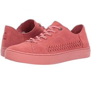 TOMS Dark Mauve Pink Rose Suede Lace Up Sneakers